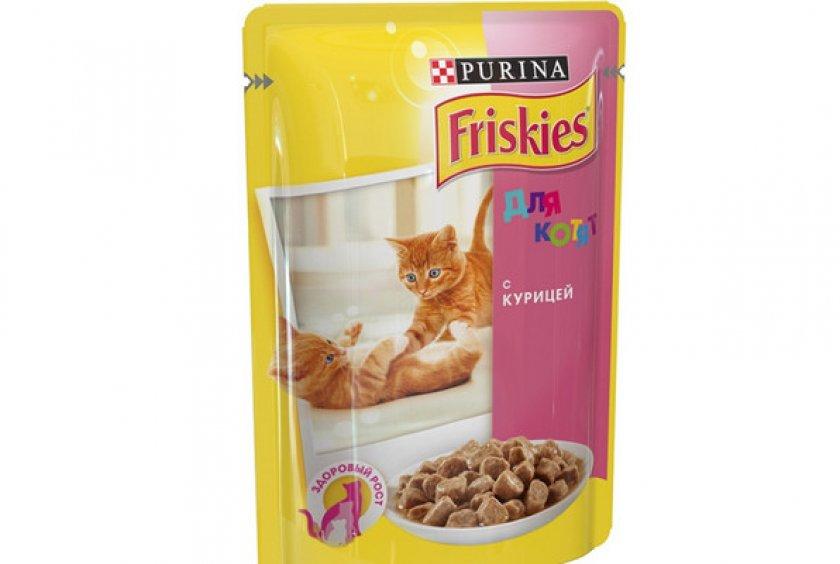 Влажный (консервированный) рацион для котят «Friskies Junior»