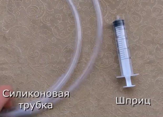 Материалы для изготовления сифона