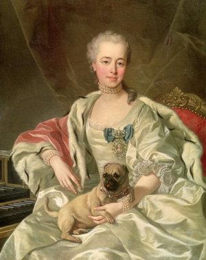Княгиня Е. Д. Голицына с мопсом, 1759