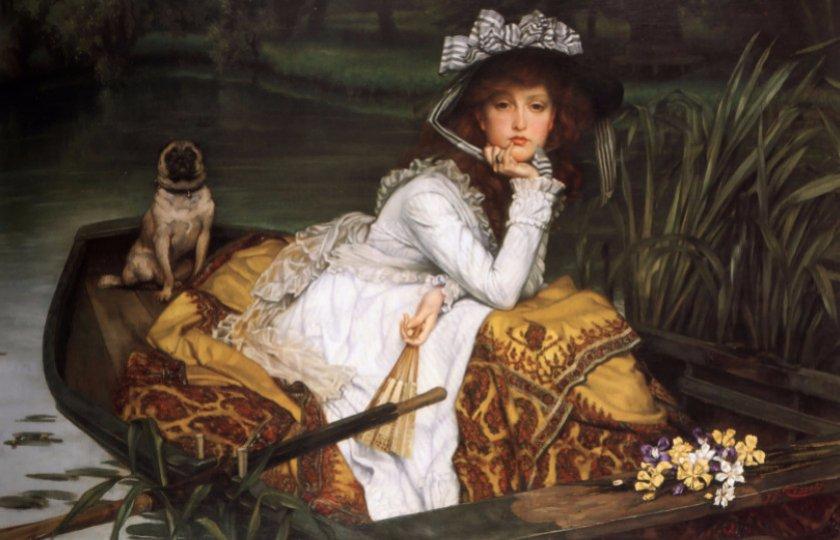 Юная леди в лодке, Дж. Тиссо, 1870
