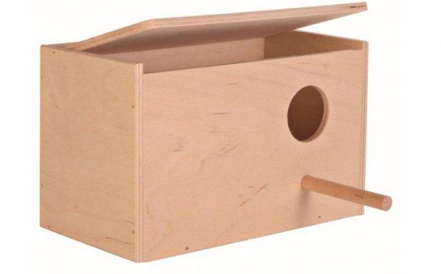 Горизонтальный домик для попугая