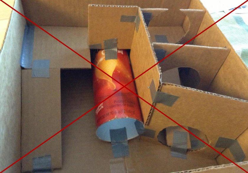 Домик для хомяка из коробки