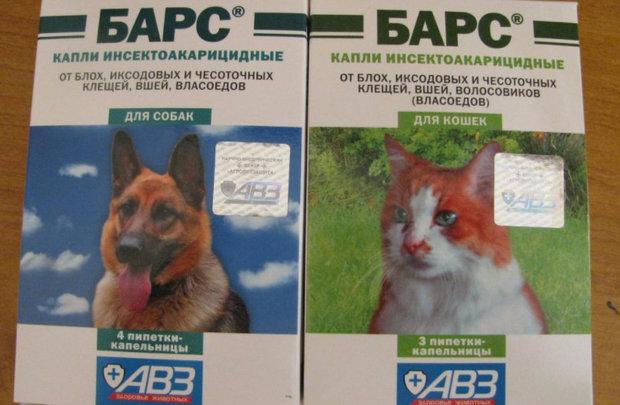 Капли Барс для котов и собак