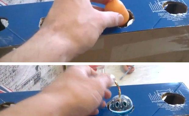 Помещаем в коробку капсулу и выбранную маленькую игрушку